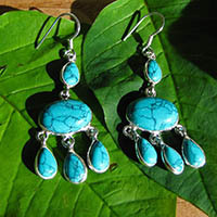 925 Sterling Silver Earrings with turquoise 18-2