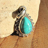 925 Sterling Silver Pendant with turquoise 18-1