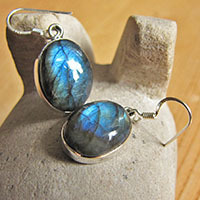 Indian silver earrings jewelry with labradorite 18-2-1