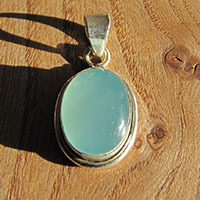 Indian Chalcedony silver pendant jewelry 18-2