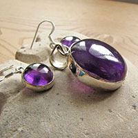 Amethyst Combination offer - Earrings, Pendant 18-1