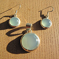 Bright Round Chalcedony Jewelry Combination - 18-3