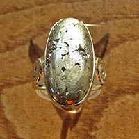 Splendid Ring with rare Pyrite - 925 Sterling Silver Jewelry