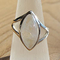 Indian Moonstone Ring - Silver Jewelry 18-2-3