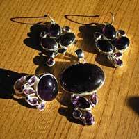 Charming Amethyst Jewelry Set with Ring - combo offer