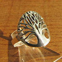 Ring with 'Tree of Life' Symbol - Indian 925 Silver Jewelry