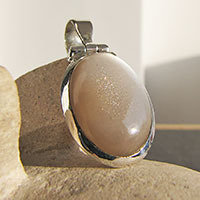 Brown Moonstone - Indian Premium Jewelry 925 Silver