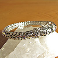 Elegant Indian Bracelet • 925 Sterling Silver Ethnic Jewelry