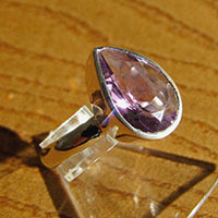 Sparkling Amethyst Ring - Indian Jewelry in 925 Silver