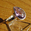 Delicate Indian Amethyst Ring - 925 Silver Jewelry