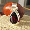 Pendant with Garnet facetted - Indian Silver Jewelry