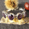 Indian Amethyst Bracelet • 925 Silver Jewelry