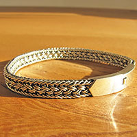 Indian Ethnic Style Bracelet in 925 Silver • Clasp shiny