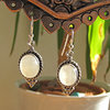 Moonstone Earrings - Indian 925 Silver Jewelry