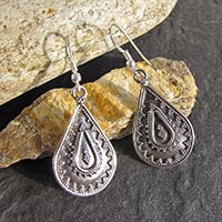 Fine Indian Earrings in Ethnic Look 925 Silver Jewelry