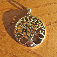 Pendant 'Tree of Life' Symbol - 925 Silver Jewelry