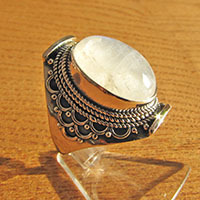 Magnificent Moonstone Ring - Indian 925 Sterling Silver Jewelry