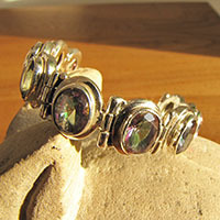 Indian Mystic Topaz Bracelet - 925 Silver Jewelry