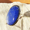 Indian Lapis Lazuli Ring One size - 925 Silver Jewelry