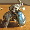 Indian Labradorite Pendant adorned Silver Ethnic Jewelry