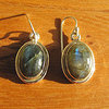 Indian Labradorite Earrings Jewelry • nice Silver Rim