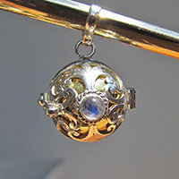 'Harmony Ball' Pendant with Moonstone - Silver Jewelry