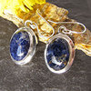 Rare Indian Sodalite Earrings • 925 Silver