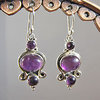 Indian Amethyst Earrings • Silver Jewelry Design