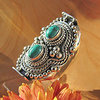 Magnificent Turquoise Ring - Indian Silver Jewelry