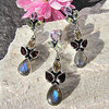 Indian Jewelry Set floral Gemstone Design • 925 Silver