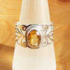 Indian Rings Jewelry - noble Silver Ornament with Citrine