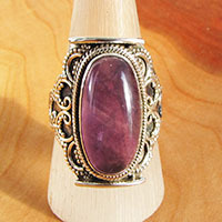 Magnificent Amethyst Ring ★ Indian Silver Jewelry