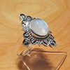Indian Ethnic Moonstone Ring ☆ Silver Jewelry