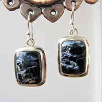 Elegant Pietersite Earrings ⚜ Indian Jewelry 925 Silver