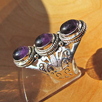 Magnificent Amethyst Ring - Indian Silver Jewelry