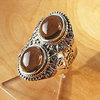 Charming Smoky Quartz Ring - Indian Silver Jewelry